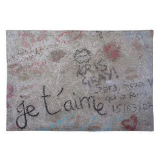french graffiti placemat