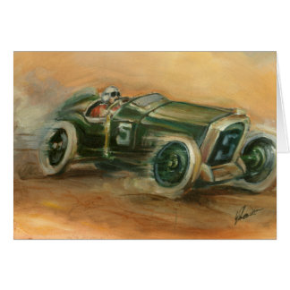 French Grand Prix Racecar by Ethan Harper Card