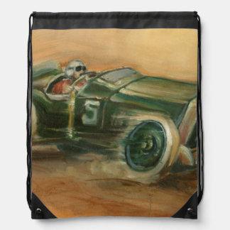 French Grand Prix Racecar by Ethan Harper Drawstring Bag