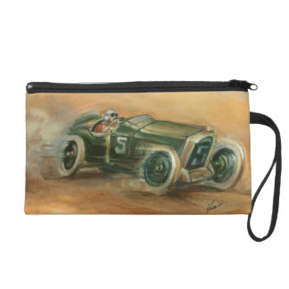 French Grand Prix Racecar by Ethan Harper Wristlet Purses