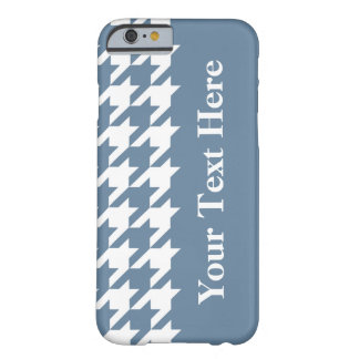 French Gray Elegant Houndstooth with custom text Barely There iPhone 6 Case