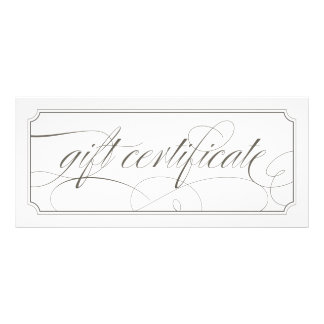 French Grey Elegant Script Gift Certificates
