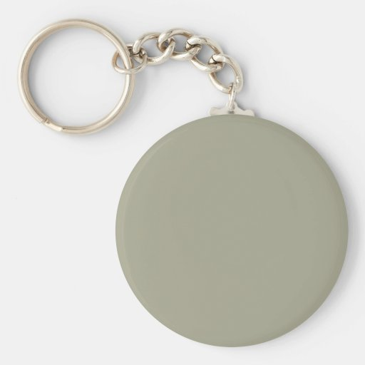 French Grey Khaki Color Only Custom Design Key Chains