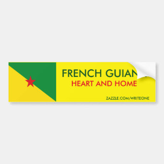 FRENCH GUIANA BUMPER STICKER