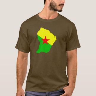 FRENCH Guiana flag map T-Shirt