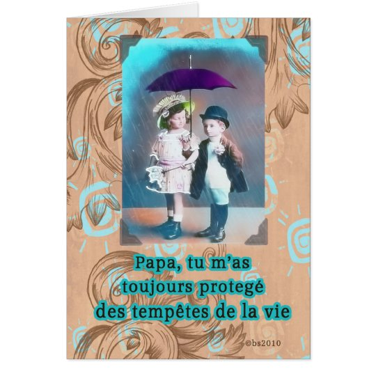 french happy fathers day card
