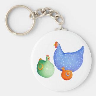 French Hens Keychain