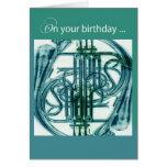 French Horn Birthday Card