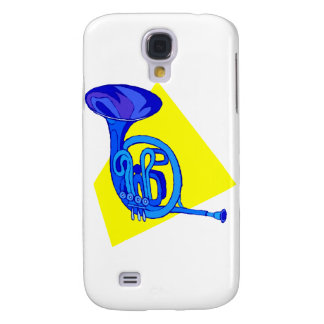 French Horn Blue Version With Yellow Samsung Galaxy S4 Cases