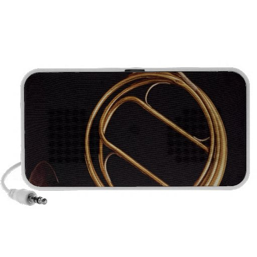 French Horn, by Marcel Auguste Raoux Portable Speakers