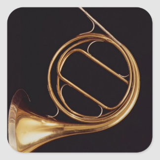 French Horn, by Marcel Auguste Raoux Square Sticker