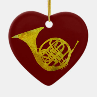 French Horn Ceramic Heart Decoration