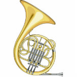 French Horn Christmas Ornament Standing Photo Sculpture