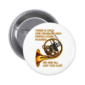 French Horn Cutie 6 Cm Round Badge