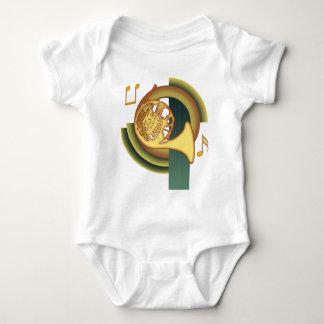 French Horn Deco Baby Bodysuit