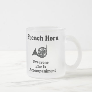 French Horn Gift Frosted Glass Coffee Mug