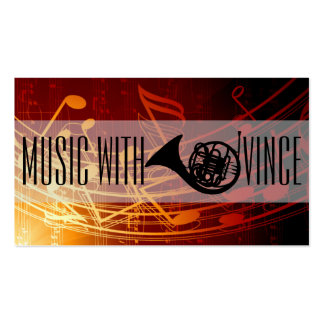 French Horn Instructor Music Studio Business Card Pack Of Standard Business Cards
