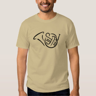 French horn instrument tshirts