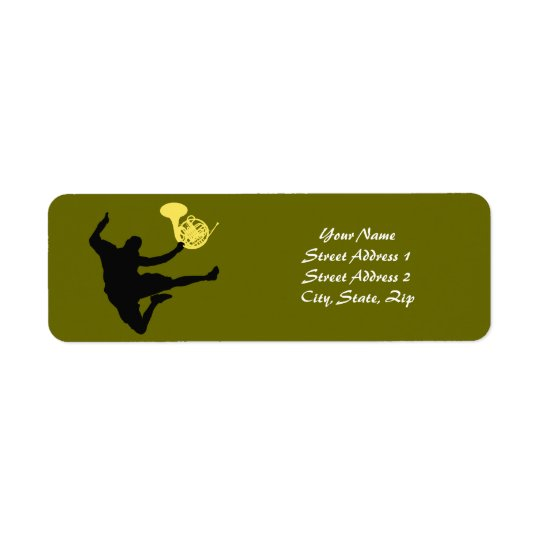 French horn label return address label