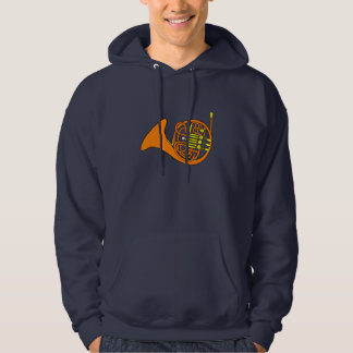French Horn Mens Hoodie