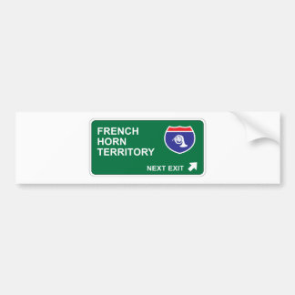 French Horn Next Exit Bumper Sticker