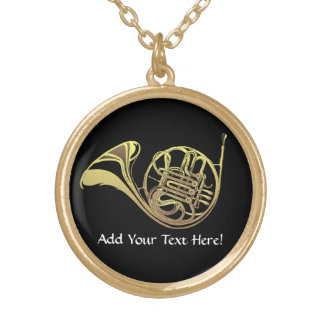 French Horn Personalized Music Necklace
