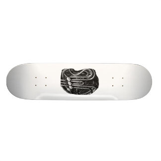 French Horn Piping Black and White photo design Custom Skateboard