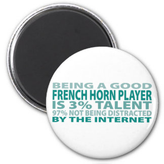 French Horn Player 3% Talent 6 Cm Round Magnet