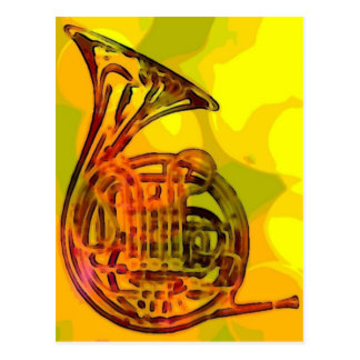 French Horn Postcard