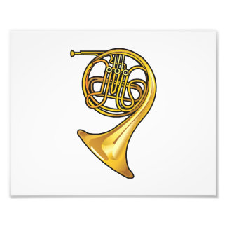 french horn real style.png photo print