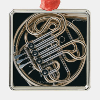 French Horn Silver-Colored Square Decoration