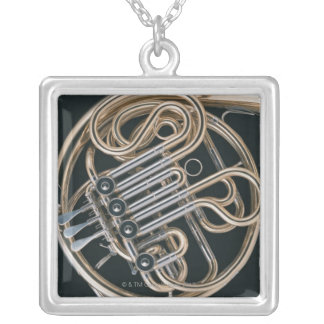 French Horn Silver Plated Necklace