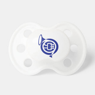 french horn stylized simple blue.png baby pacifiers