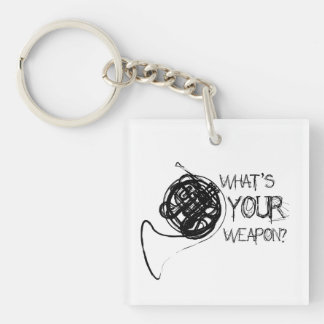 French Horn Weapon Acrylic Key Chains