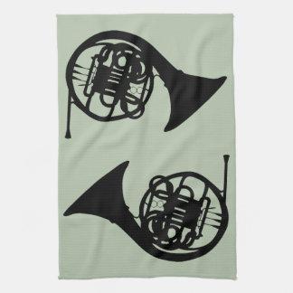 French Horns Tea Towel