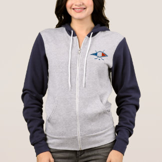 French Ice Hockey Flag Logo Zip Hoodie