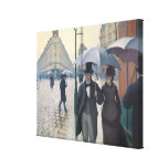 French Impressionism Paris A Rainy Day Stretched Canvas Print