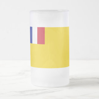 French Indochina Flag (1887-1954) Frosted Glass Mug