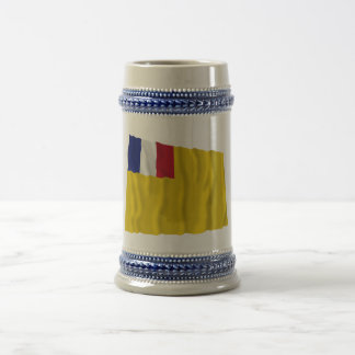 French Indochina Waving Flag (1887-1954) Beer Steins