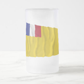 French Indochina Waving Flag (1887-1954) Frosted Glass Mug