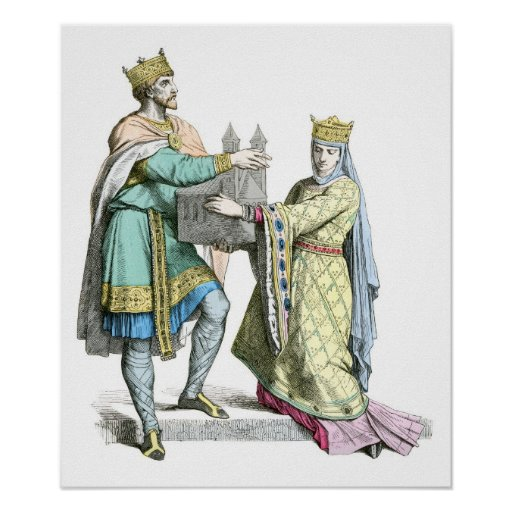 French king and queen print