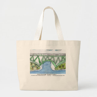 French King Bridge child's painting tote bag
