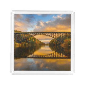 French King Bridge in Fall Acrylic Tray