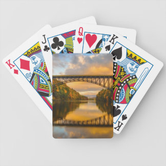 French King Bridge in Fall Bicycle Playing Cards