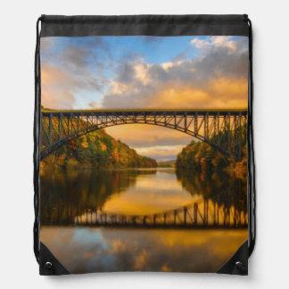 French King Bridge in Fall Drawstring Bag
