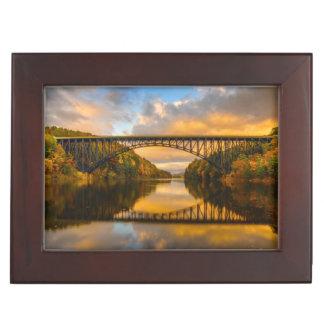 French King Bridge in Fall Keepsake Box