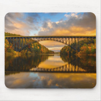 French King Bridge in Fall Mouse Mat
