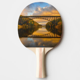 French King Bridge in Fall Ping Pong Paddle