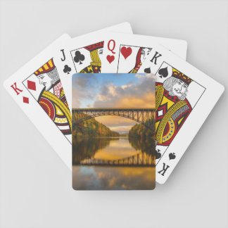 French King Bridge in Fall Playing Cards