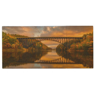 French King Bridge in Fall Wood USB 2.0 Flash Drive